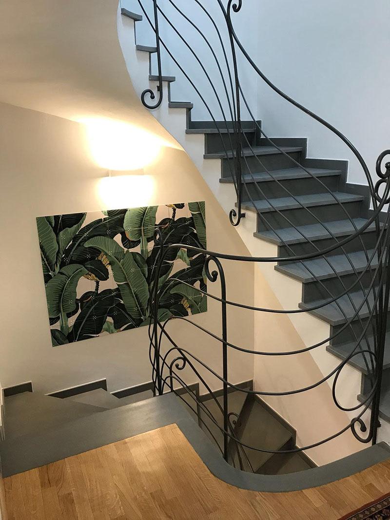 scale a ventaglio in pietra serena