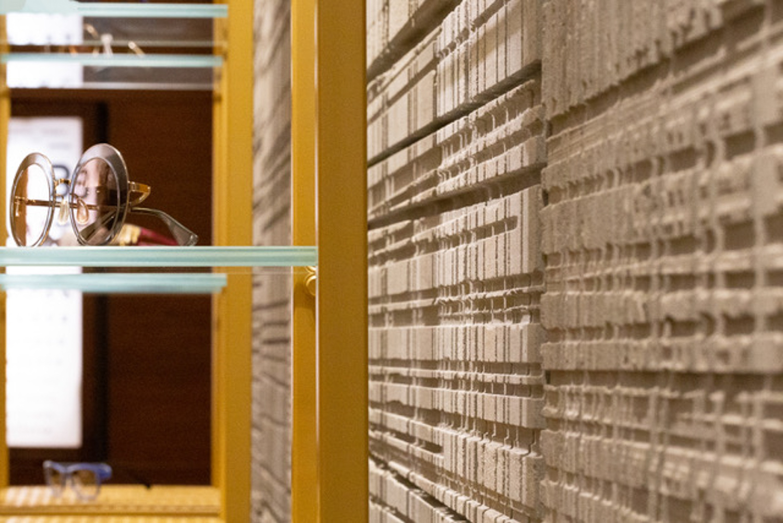 metropolis pietra serena di firenzuola texture negozio occhiali