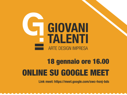 """Seconda conferenza""""Arte, Design e Impresa per nuovi giovani talenti"""""""